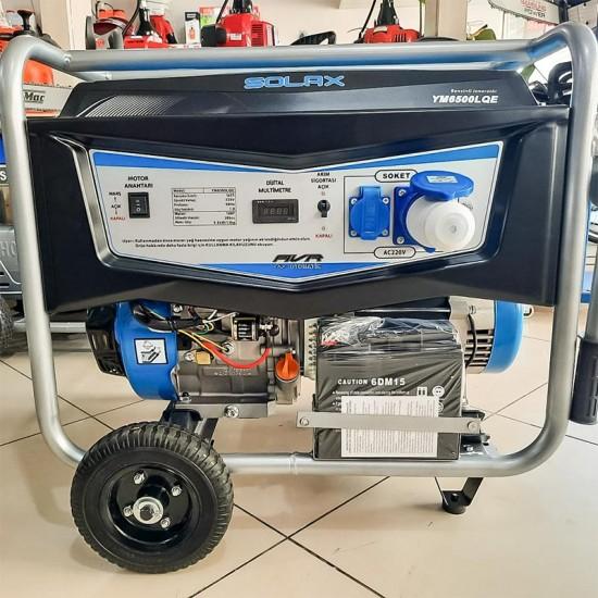 Solax YM6500LQE Monofaze Marşlı Benzinli Jeneratör