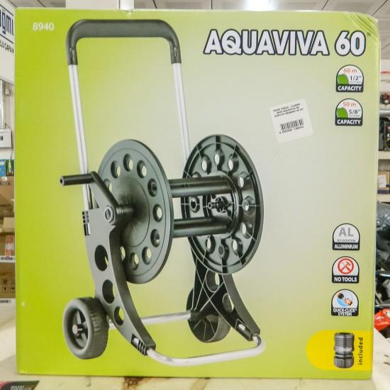 Claber 8940 Aquaviva 60 Tekerlekli Hortum Makarası