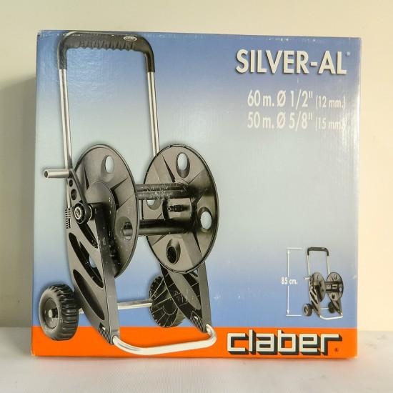 Claber 8977 Silver-Al Tekerlekli Hortum Makarası