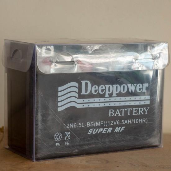 Deeppower 12v6.5ah (12 Volt - 6.5 Ampersaat) Motosiklet Aküsü - Yatık