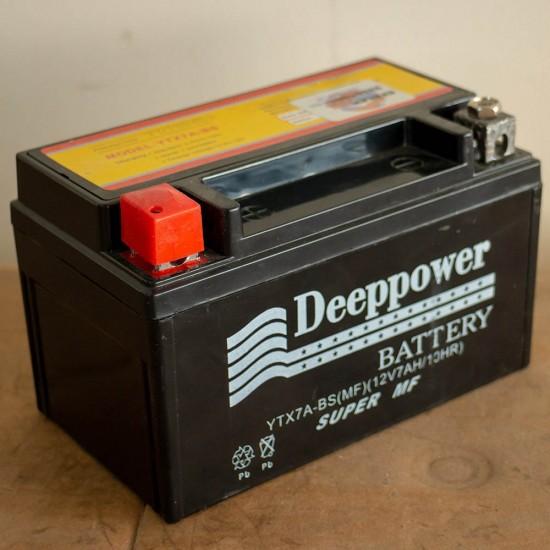Deeppower 12v7ah (12 Volt - 7 Amper/saat) Motosiklet Aküsü - Yatık