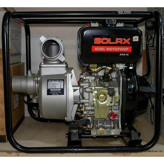 Solax 80KB-3E Dizel 3 Su Motoru - Marşlı - 6.7 Hp