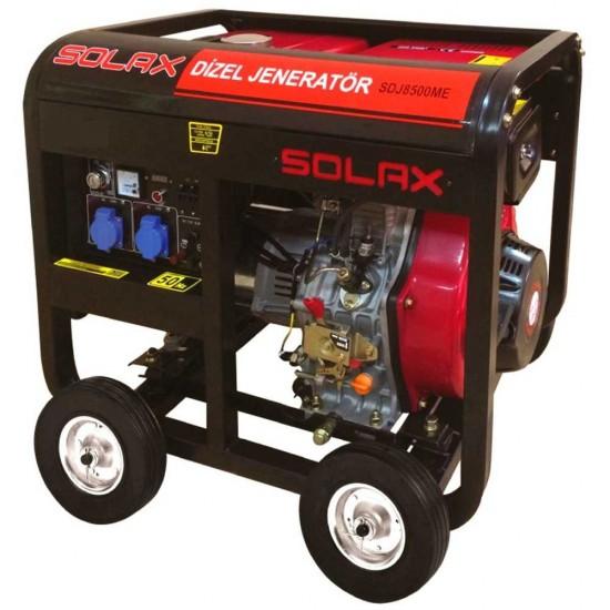 Solax SDJ8500ME Dizel Jeneratör - Marşlı - 7.5 kVA - 13 Hp
