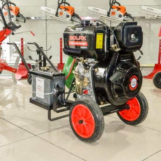Solax SDP-3YN Dizel 3 Yüksek Basınçlı Su Motoru - Tekerlekli - Marşlı - 13 Hp